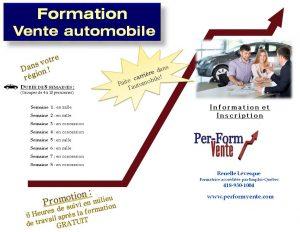 Formation vente automobile
